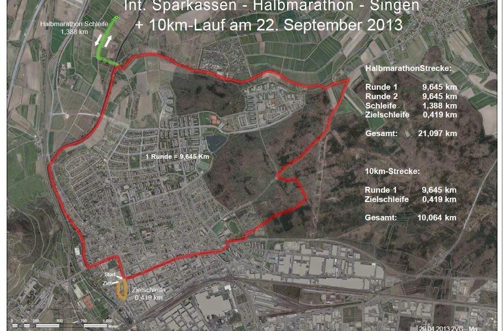 Halbmarathon in Singen