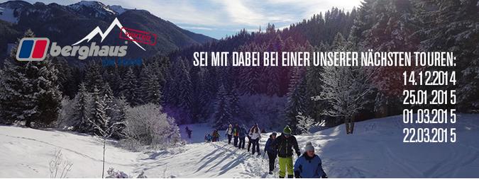 Kostenlose Schneeschuhtouren mit Berghaus