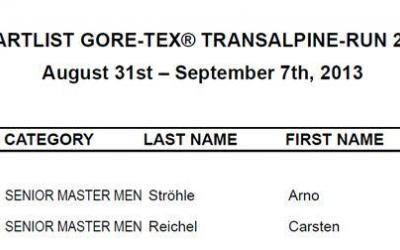 Transalpine Run 2013 – wir sind dabei