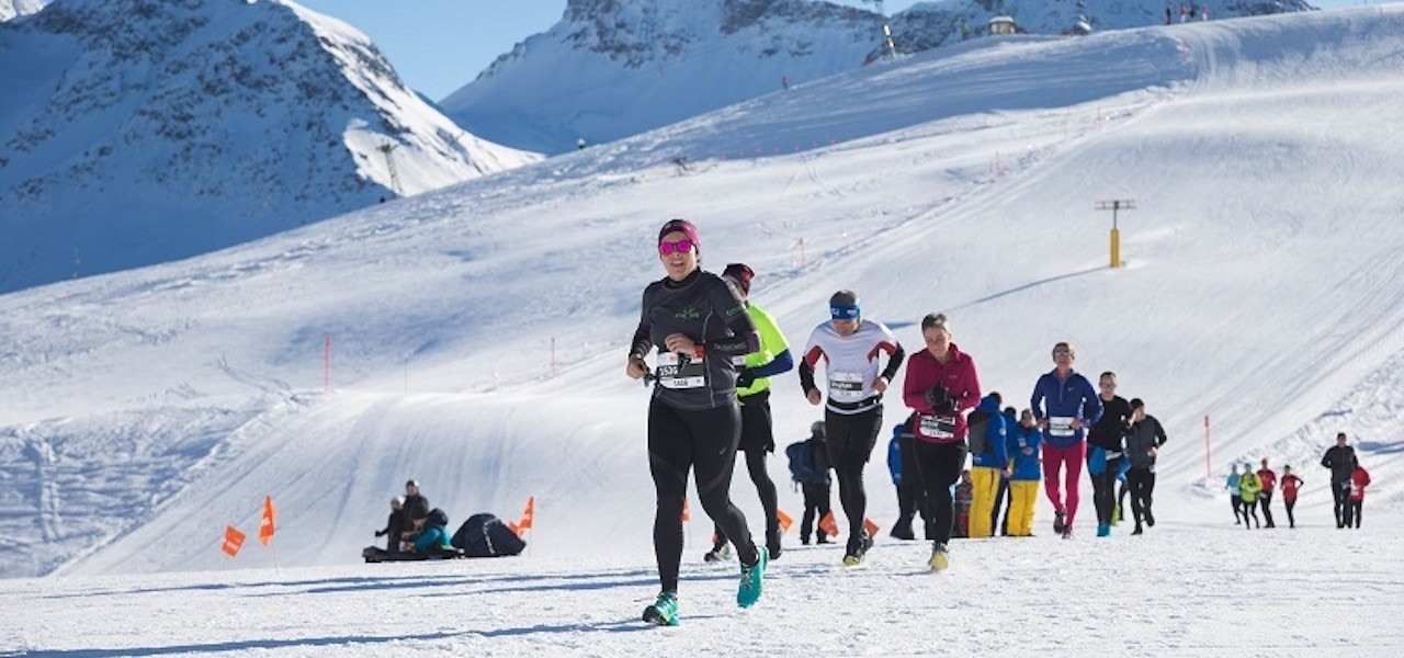 Attraktive Besetzung beim Swiss Snow Walk & Run in Arosa