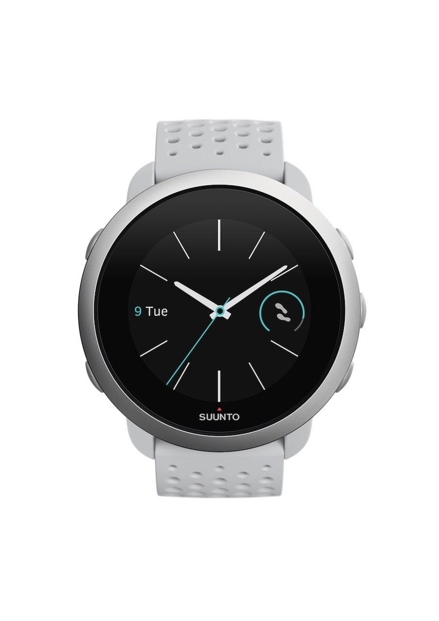 SS050416000 – SUUNTO 3 PEBBLE WHITE – Front View_WF-Watchface0-Cyan