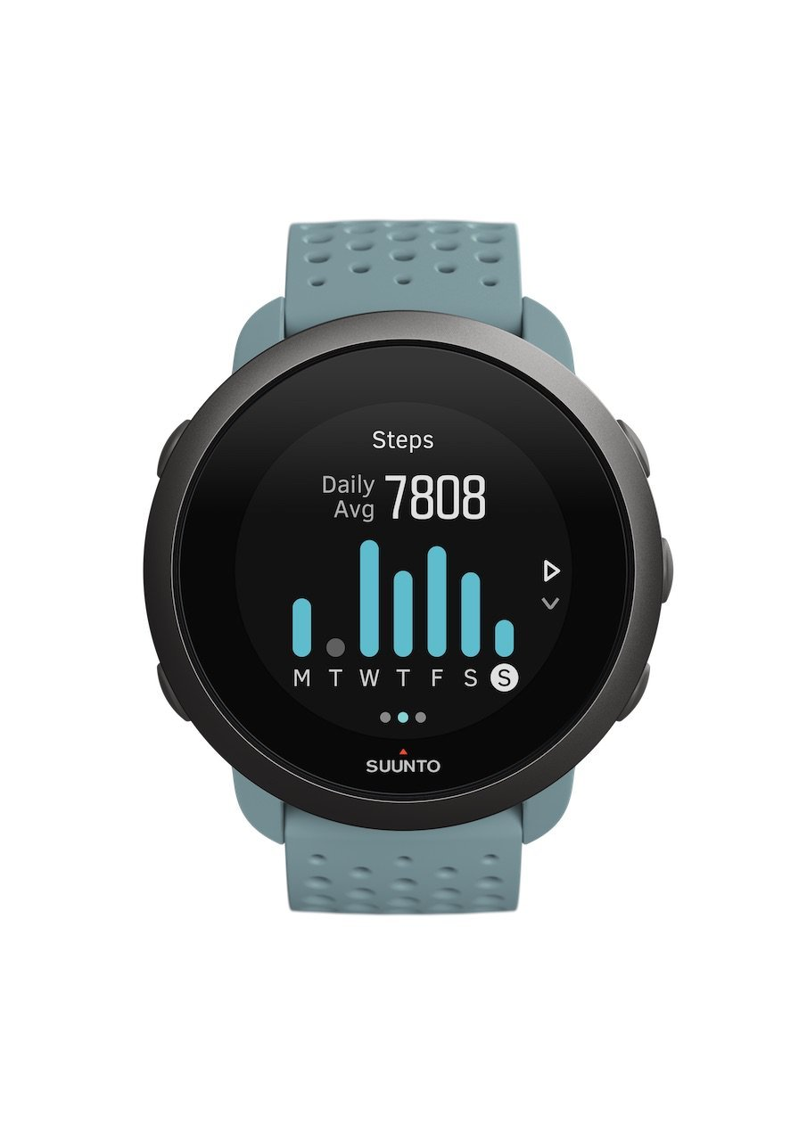 SS050474000 – SUUNTO 3 MOSS GREY – Front View_INS-Activity-Steps-7day