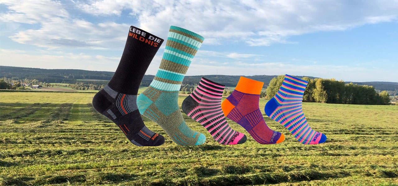 Doppellagige Socken neutralisieren die Reibung