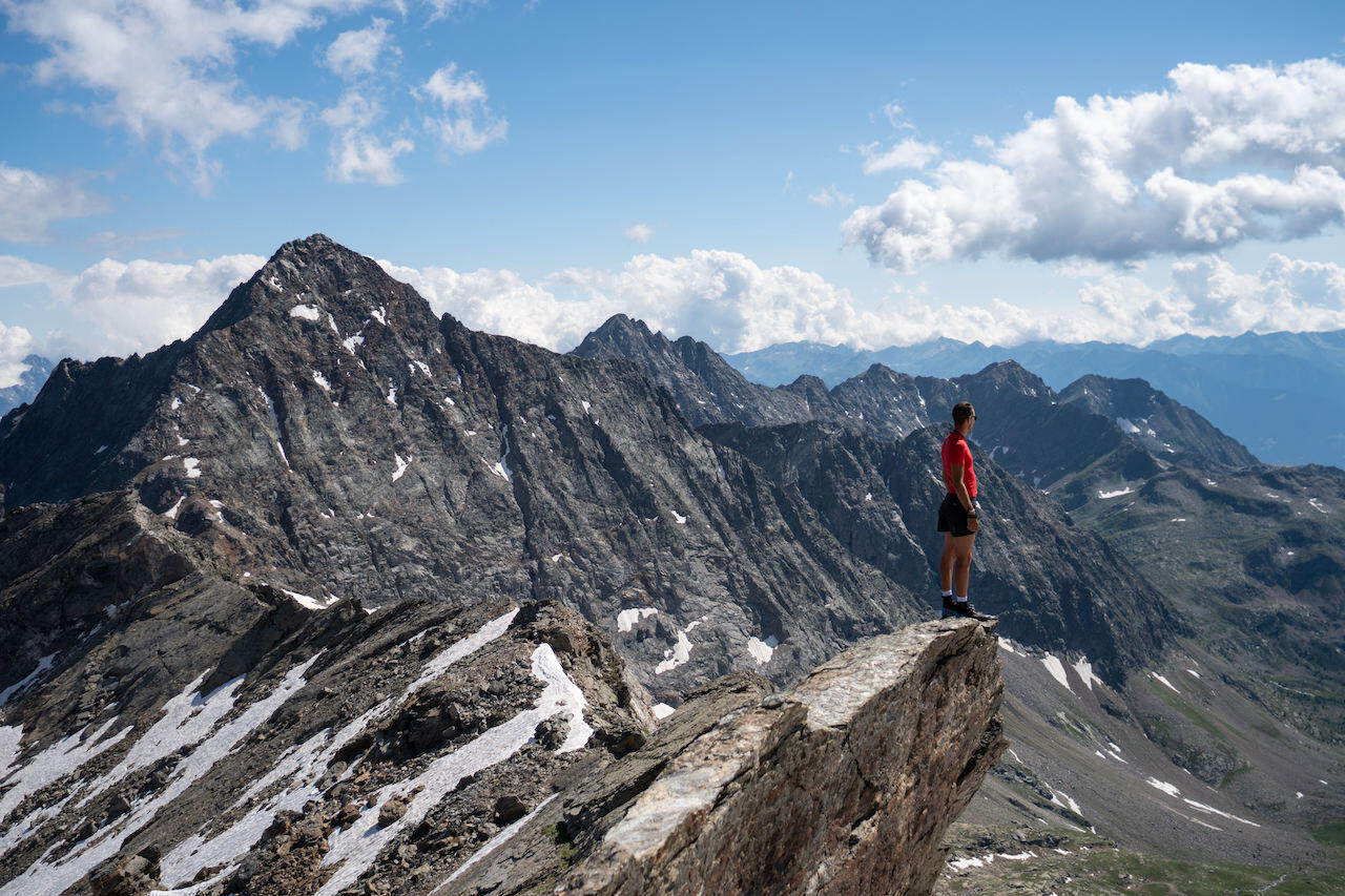 Amazing view on the alps from Pizzo Scalino. Valtellina_Lombardia region