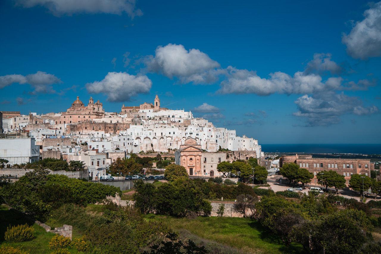 The white town of Ostuni in Puglia_