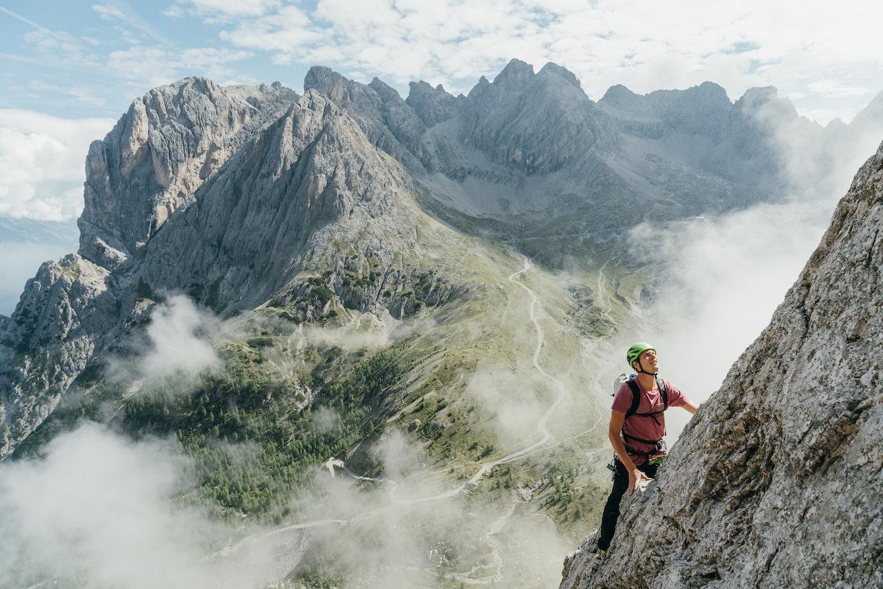 Alpines Klettern, Kleine Gamswiesenspitze, Lienzer Dolomiten, Mehrseilrouten