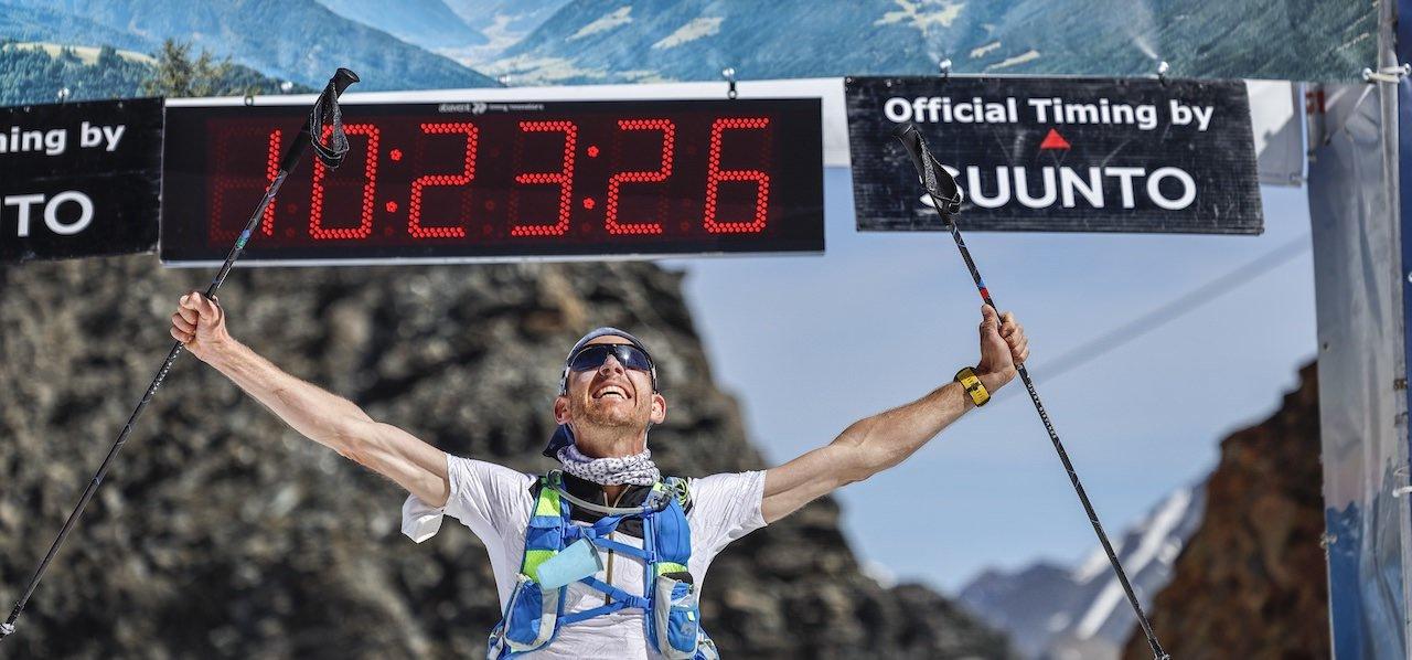 Hutter siegt in Rekordzeit auf dem Stubaier Gletscher
