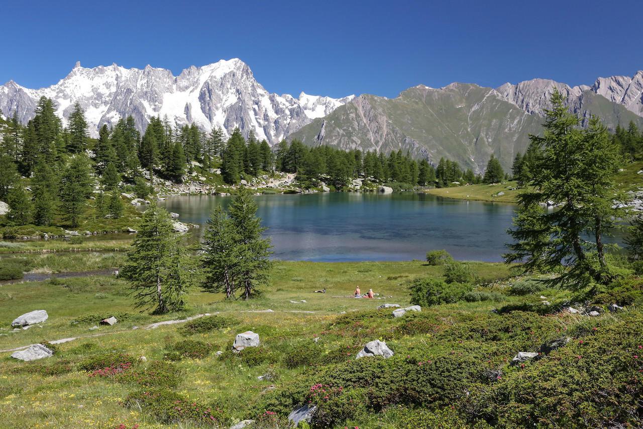 VALLE D'AOSTA-Lago Arpy e Grandes Jorasses (foto Enrico Romanzi)-9286